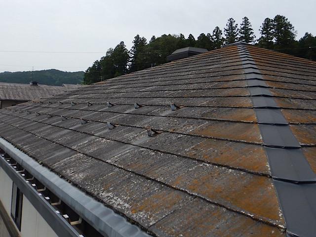 スレート屋根劣化酷い