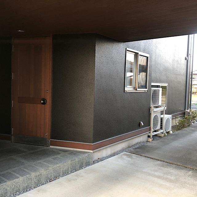 玄関周りの外壁塗装工事