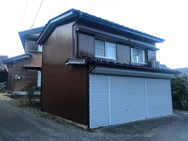 池田町小寺の外壁板金塗装工事