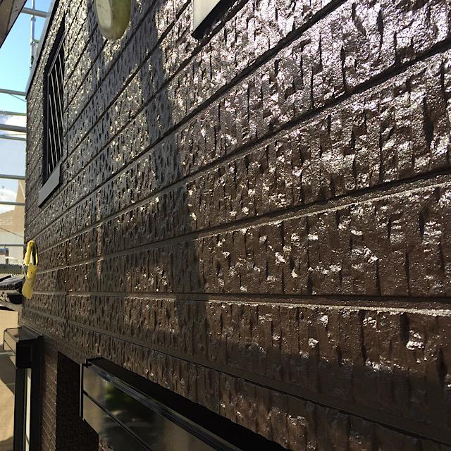 艶ありの外壁塗装完成写真