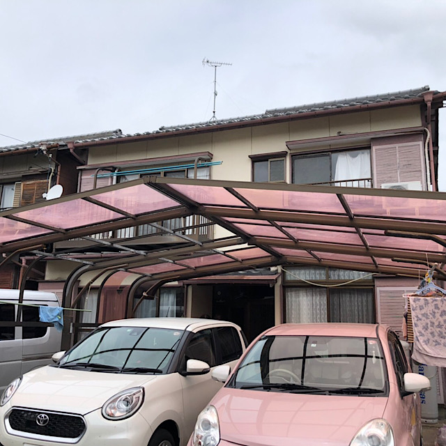 羽島市で台風でカーポートが壊れた