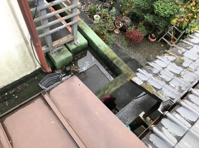 屋根を上から撮った写真