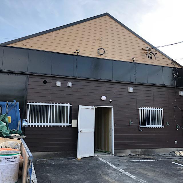 店舗外壁塗装工事の北面完成写真