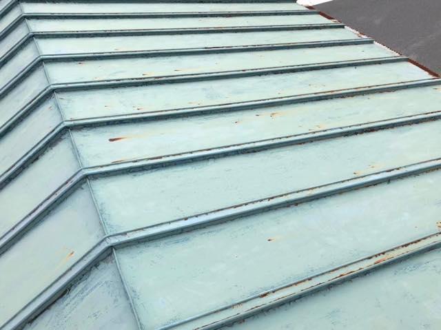 瓦棒屋根の様子