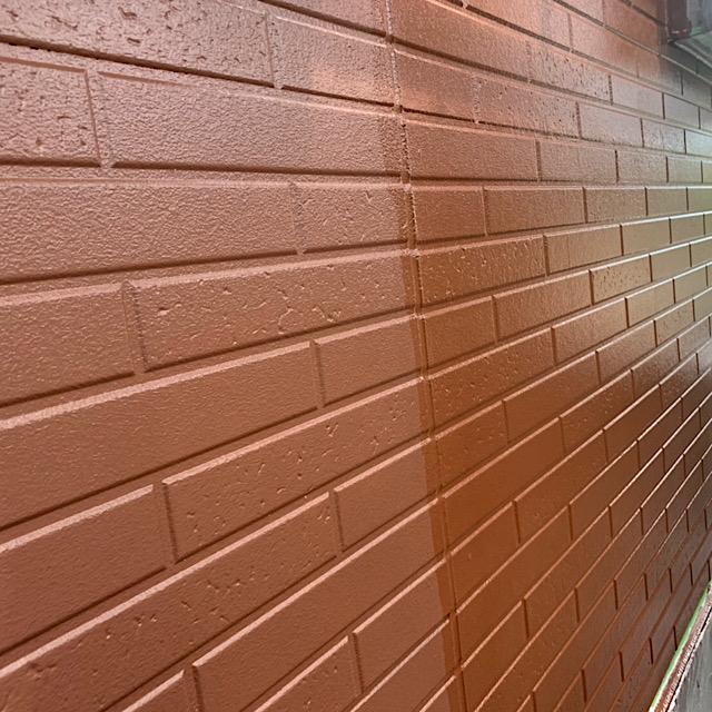 羽島市で外壁塗装工事3回塗りの写真