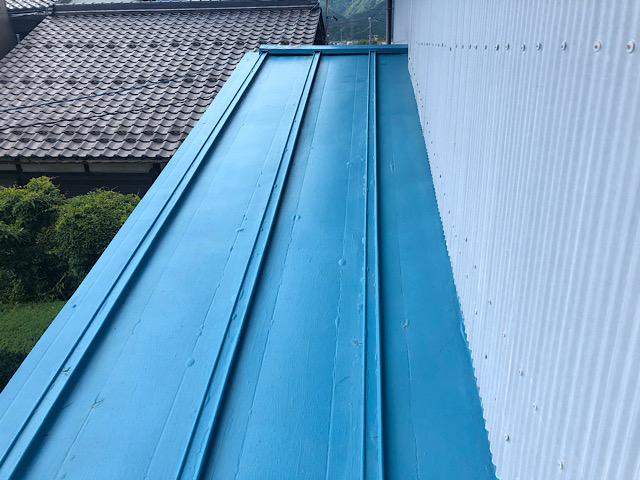 瓦棒屋根塗装前の写真