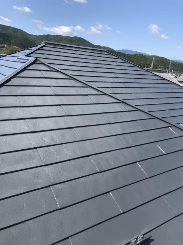 塗装完了スレート屋根