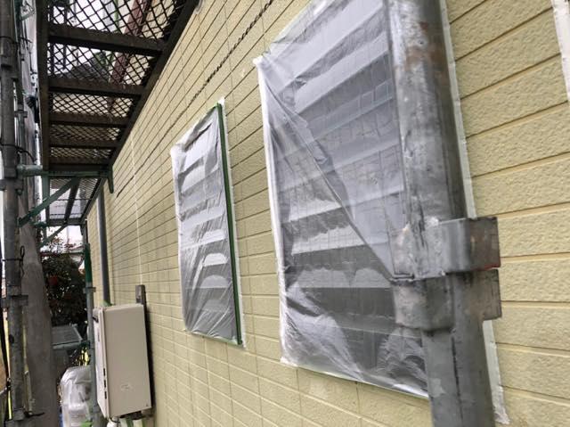 外壁塗装の養生