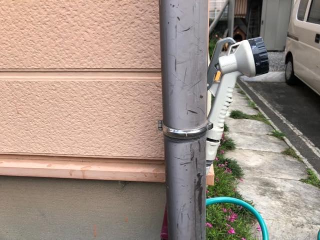 雨樋の塗装色あせ