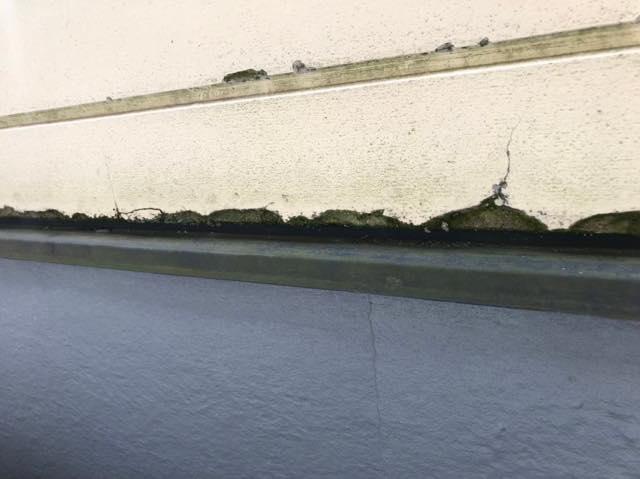 ベランダ壁がボロボロ