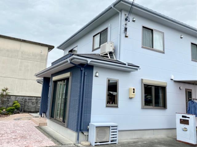 外壁屋根塗装が終わった現場