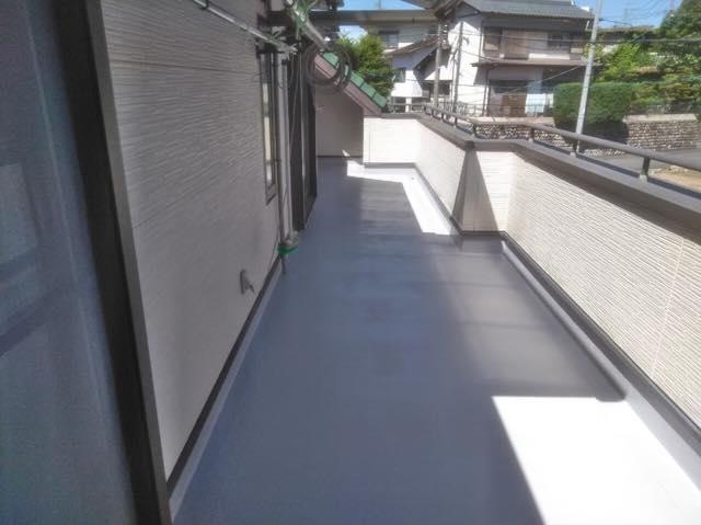 ベランダ防水塗装工事完成
