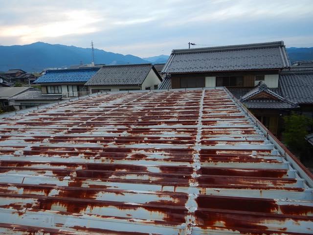 美観の悪くなった瓦棒屋根