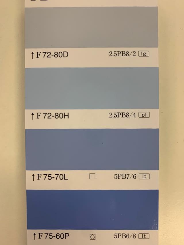 室内でのブルー塗料