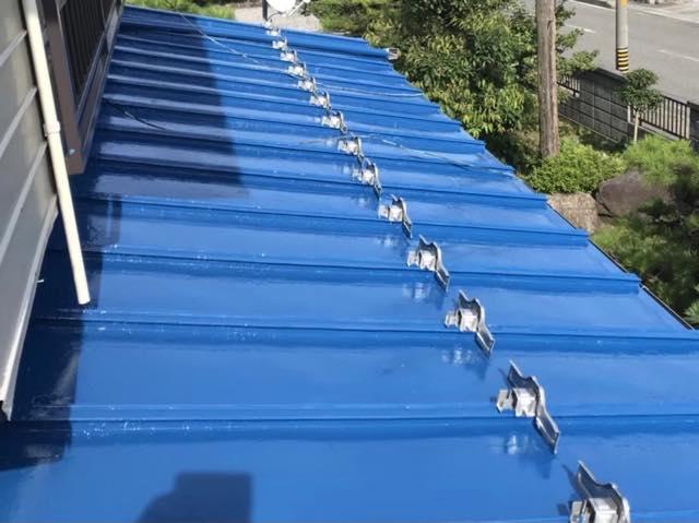 瓦棒屋根の塗装完了