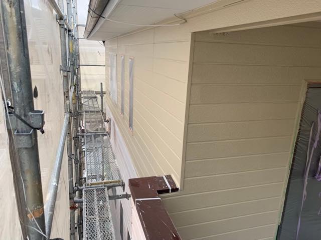 2階部分の塗装
